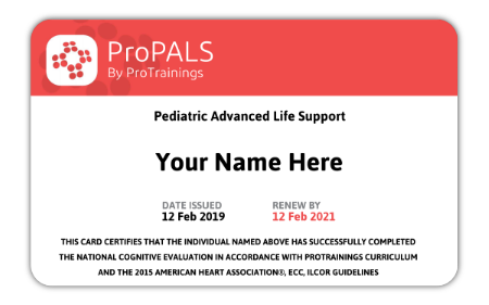 PALS Certification Card