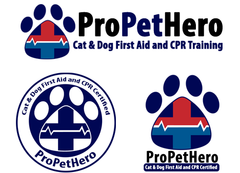 Pet First Aid certification badges for pet professionals