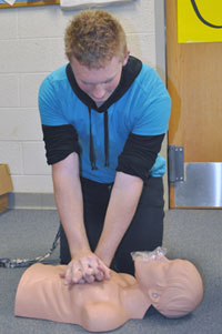 CPR on a manikin